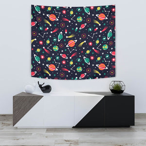 Colorful Space Pattern Planet Star Wall Tapestry