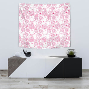 Sketch Guava Pattern Wall Tapestry