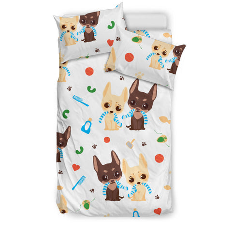 Cute Chihuahua dog pattern  Bedding set