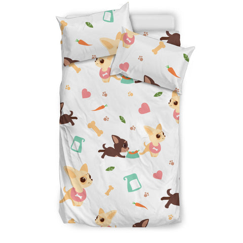 Cute Chihuahua puppie pattern  Bedding set