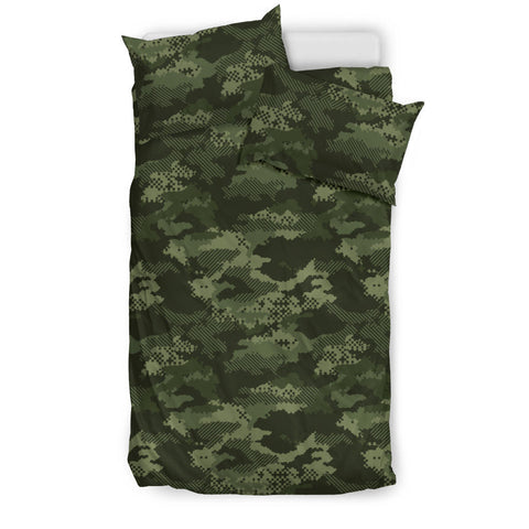 Digital Green camouflage pattern  Bedding set