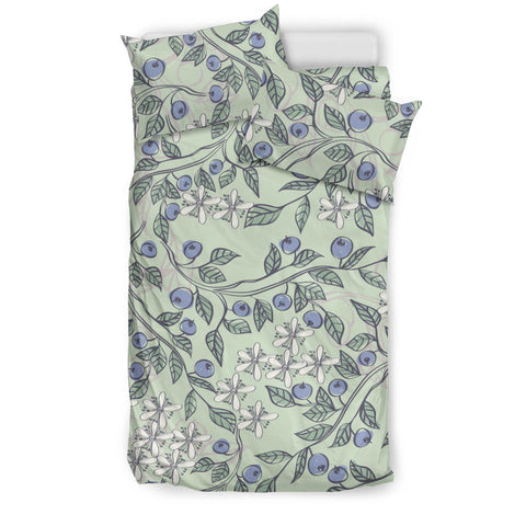 hand drawn blueberry pattern  Bedding set