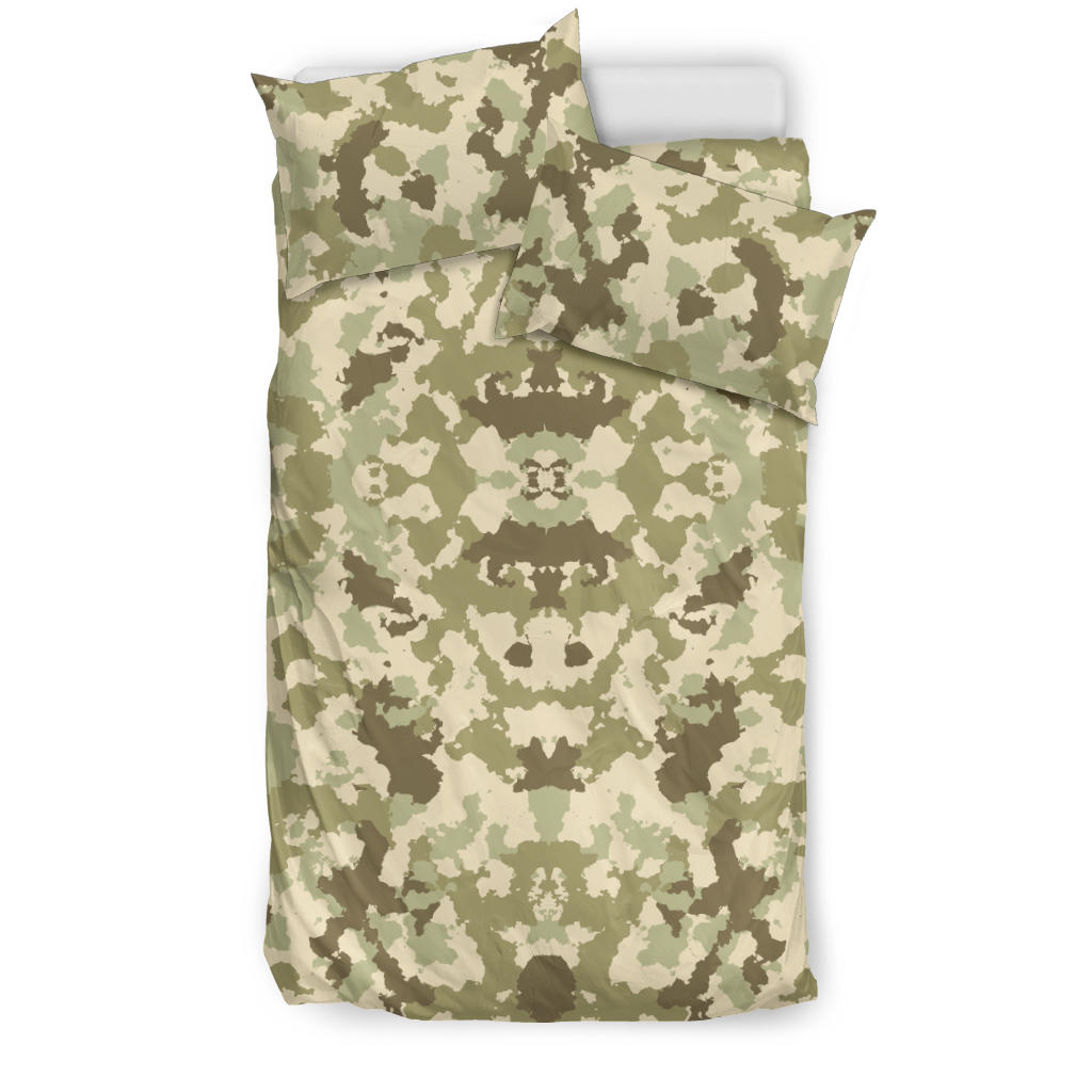 Light Green camo camouflage pattern  Bedding set