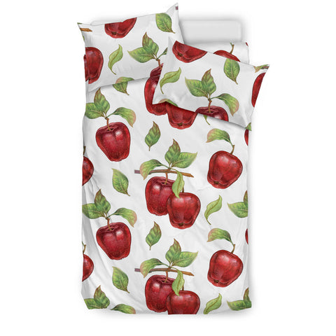 Red apples pattern  Bedding set