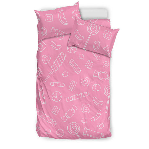 Sweet candy pink background  Bedding set