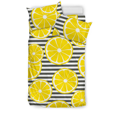 slice of lemon design pattern Bedding Set
