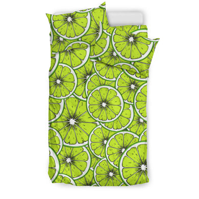 Slices Of Lime Design Pattern Bedding Set