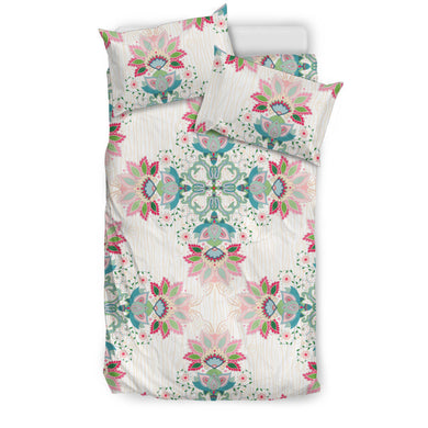 Square Floral Indian Flower Pattern Bedding Set