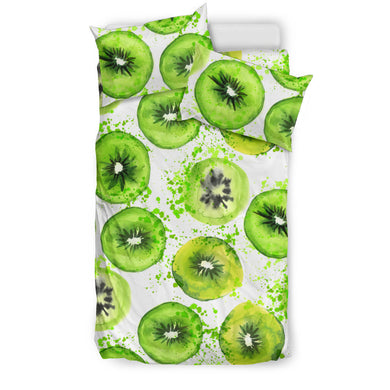 Watercolor kiwi pattern Bedding Set