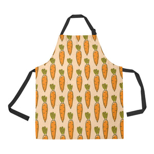 Carrot Pattern Print Design 04 All Over Print Adjustable Apron