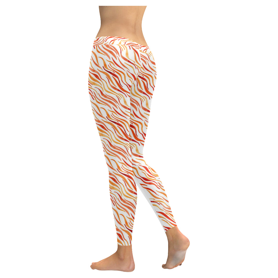 Fire flame watercolor pattern Women's Legging Fulfilled In US