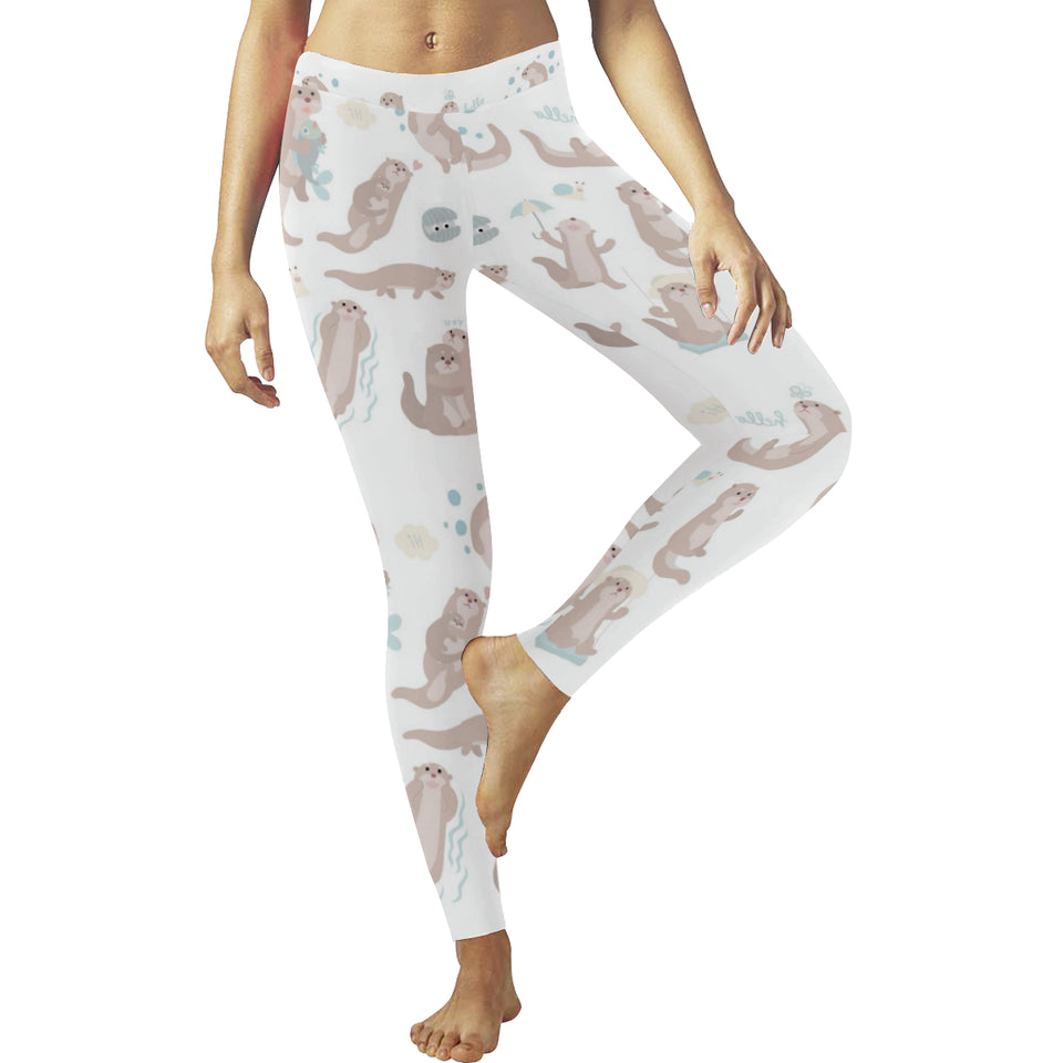 Cute sea otters pattern Women's Legging Fulfilled In US