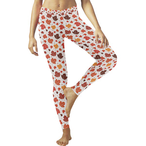 Colorful Maple Leaf pattern Women's Legging Fulfilled In US