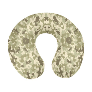 Light Green camouflage pattern U-Shaped Travel Neck Pillow