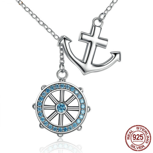 Anchor Rudder Pendant Necklace Womens  ccnc006 bt0093
