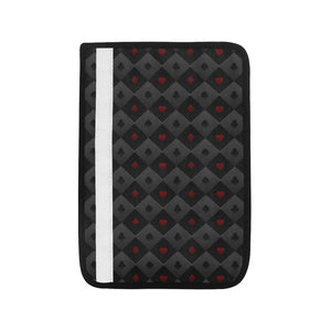 Casino Cards Suits Pattern Print Design 05 Car Seat Belt Cover