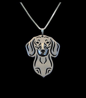 Dachshund Pendant Necklace Silver/Gold Ccnc003 Dg0010