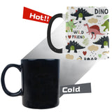 Cute dinosaurs pattern Morphing Mug Heat Changing Mug