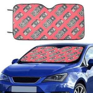 Camera Pattern Print Design 05 Car Sun Shade