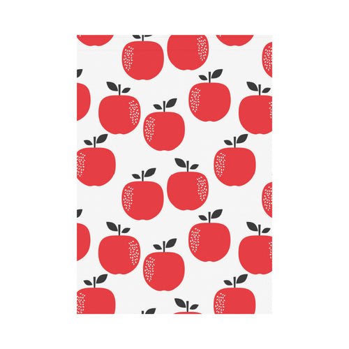 red apples white background House Flag Garden Flag
