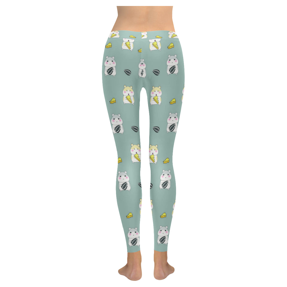 Cute hamster cheese pattern Women's Legging Fulfilled In US
