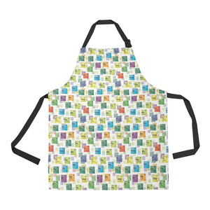 Chemistry Periodic Table Pattern Print Design 05 All Over Print Adjustable Apron