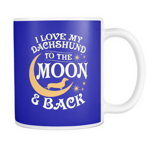 White Mug-I Love My Dachshund To The Moon & Back ccnc003 dg0058