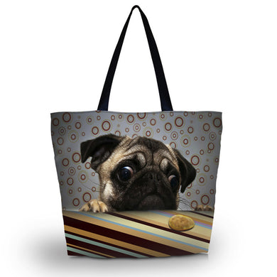 Pug Shoulder Carry Bag Lady Handbag ccnc003 dg0004