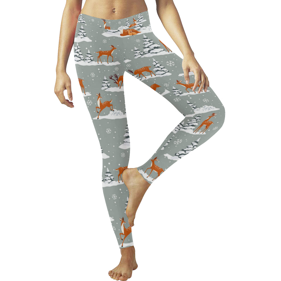 Beautiful deers Winter Christmas Women's Legging Fulfilled In US