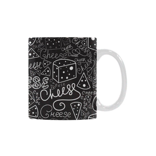 Handwritten cheese pattern Classical White Mug (Fulfilled In US)