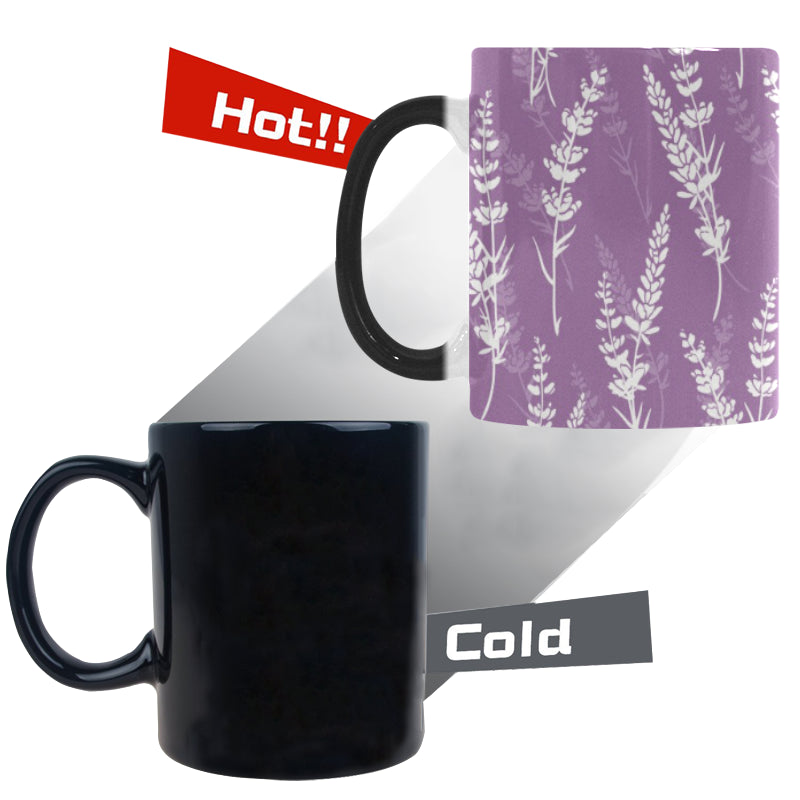 Lavender flowers purple pattern Morphing Mug Heat Changing Mug