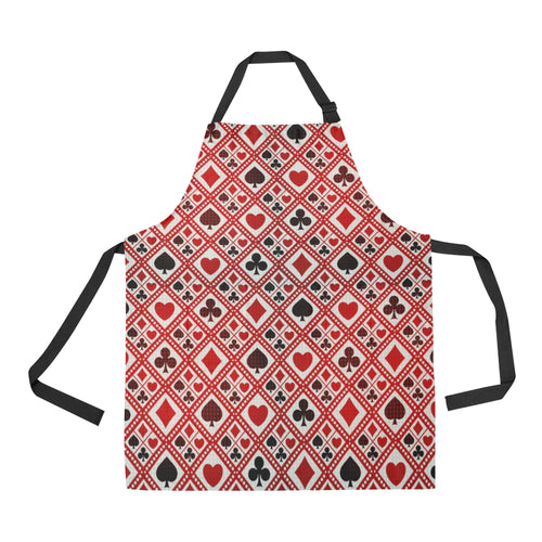 Casino Cards Suits Pattern Print Design 03 All Over Print Adjustable Apron
