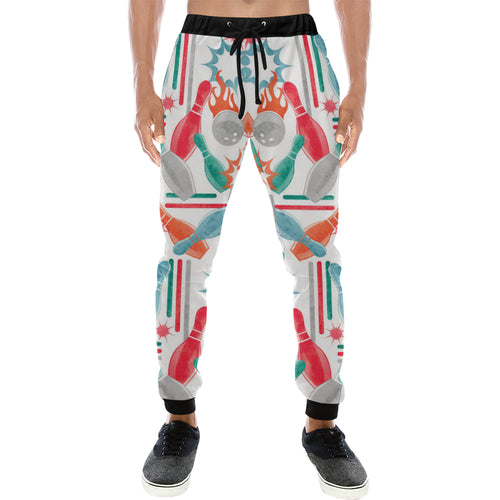 Watercolor bowling pattern Unisex Casual Sweatpants