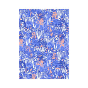 white bengal tigers pattern House Flag Garden Flag