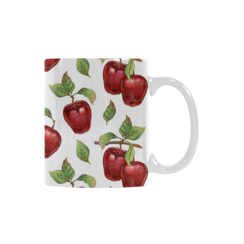 Red apples pattern Classical White Mug (Fulfilled In US)