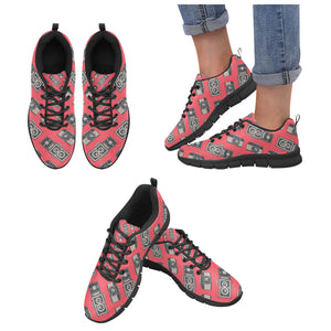 Camera Pattern Print Design 05 Women's Sneaker Shoes