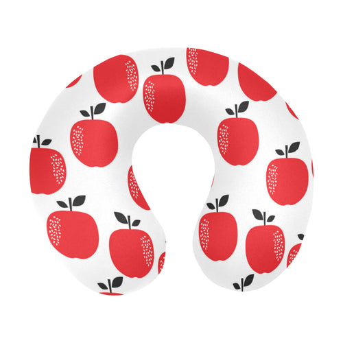 red apples white background U-Shaped Travel Neck Pillow