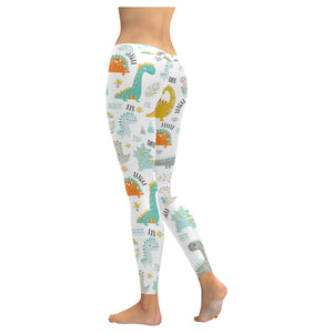 Cute funny kids dinosaurs pattern Women's Legging Fulfilled In US