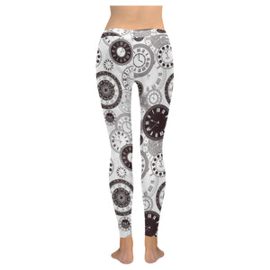 Classic vintage clock pattern Women's Legging Fulfilled In US