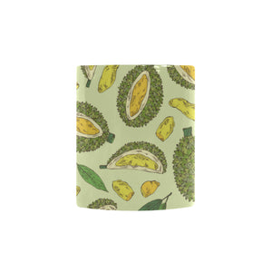 Durian leaves pattern background Morphing Mug Heat Changing Mug