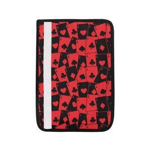 Casino Cards Suits Pattern Print Design 02 Car Seat Belt Cover