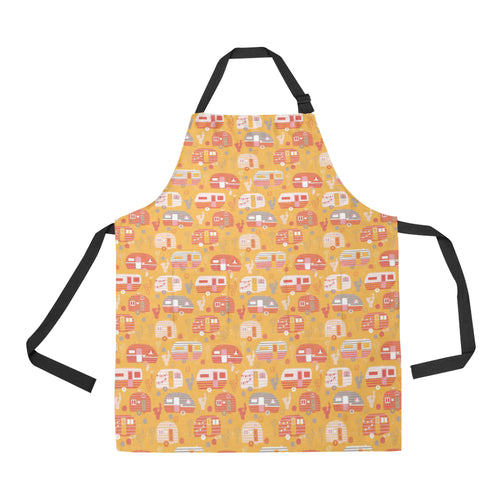 Camper Van Pattern Print Design 04 All Over Print Adjustable Apron