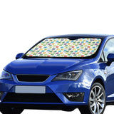 Chemistry Periodic Table Pattern Print Design 05 Car Sun Shade