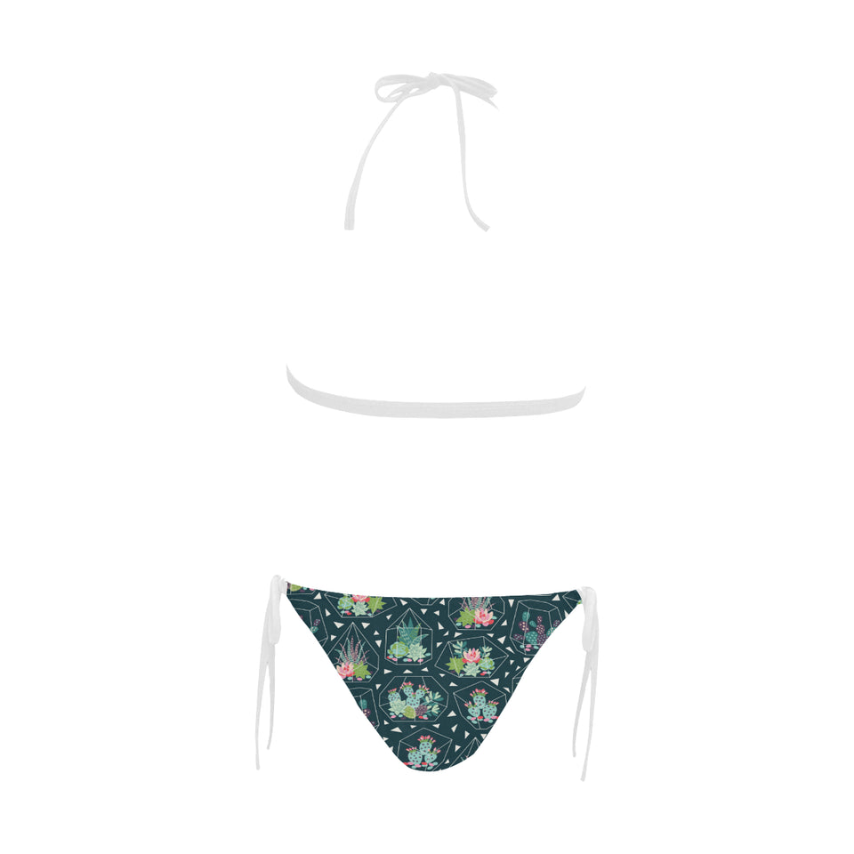 Cactus glass terrarium pattern Sexy Bikinis Two-Piece Swimsuits