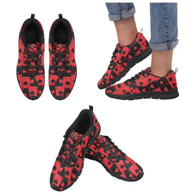 Casino Cards Suits Pattern Print Design 02 Women's Sneaker Shoes