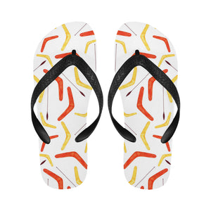 Waterclor boomerang Australian aboriginal ornament Unisex Flip Flops