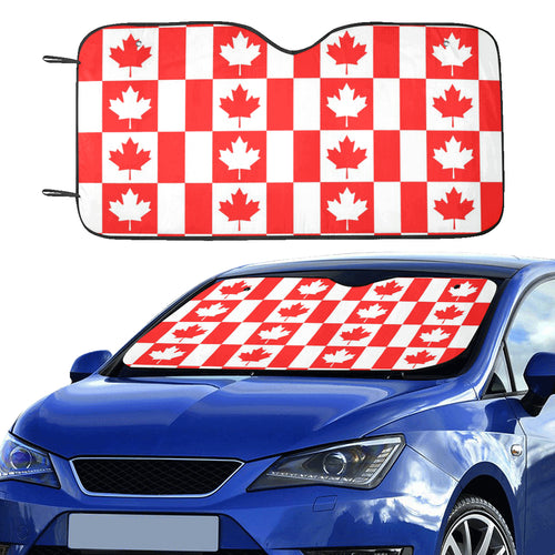 Canada Pattern Print Design 05 Car Sun Shade