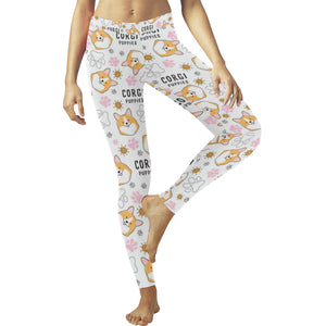 Corgi Dog Pattern Women's Legging Fulfilled In US