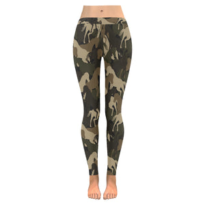 Horse Camouflage Pattern Women's Legging Fulfilled In US