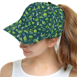 Lime ice flower pattern All Over Print Snapback Cap